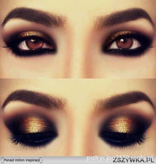 Wieczorowe makijaż złoto