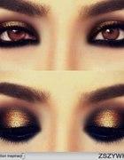 makijaż złoto...