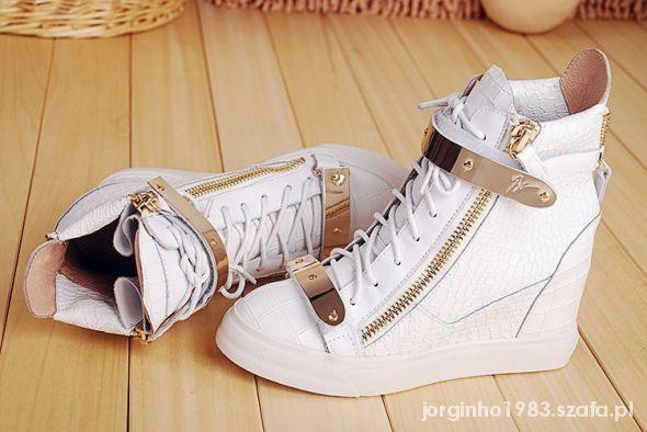sneakersy Giuseppe Zanotti skóra naturalna hit