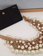 H&M naszyjnik z perłami
