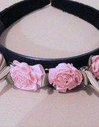opaska róże kolce pastel goth