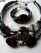 biżuteria artystyczna z agatem