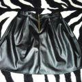Rozkloszowana spódnica skóra złoty zip L 40 M 38