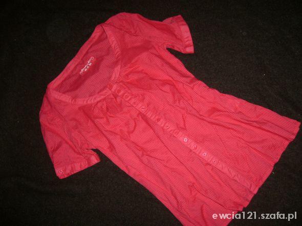 Bluzki czerwona rozpinana bluzka