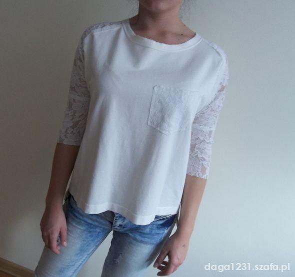 Bluzki one bluza koronkowe rekawy