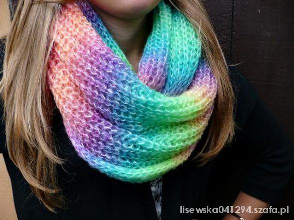 szalik fluo kolory jesień zima nowy z metka