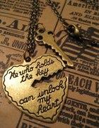 He who holds the key can unlock my heart naszyjniK...