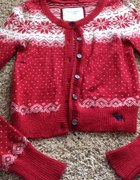 ABERCROMBIE sweter cardigan norweskie wzory...