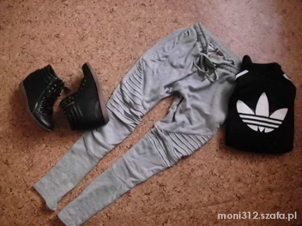 Sportowe Dresowe szare spodnie i bluza Firebird