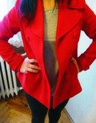 Śliczny czerwony płaszczyk