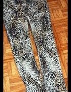 Motywy zwierzęce panterka tygrys spodnie