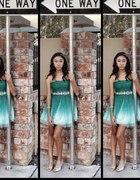 cieniowana sukienka