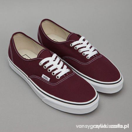 vans authentic bordowe