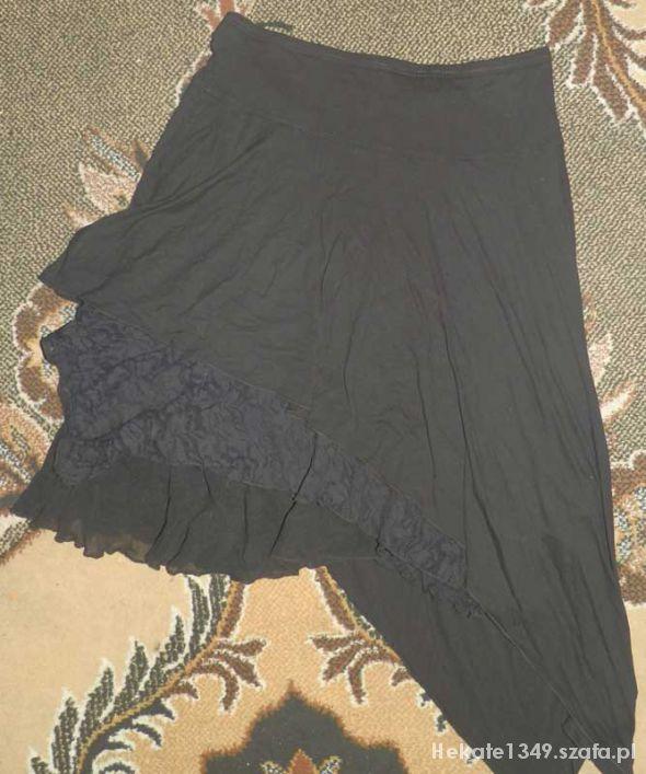 Spódnice długa spódnica asymetryczna z koronką