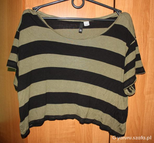 Bluzki Krótka bluzka w paski oversize