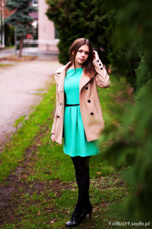 Eleganckie Szmaragdowa sukienka