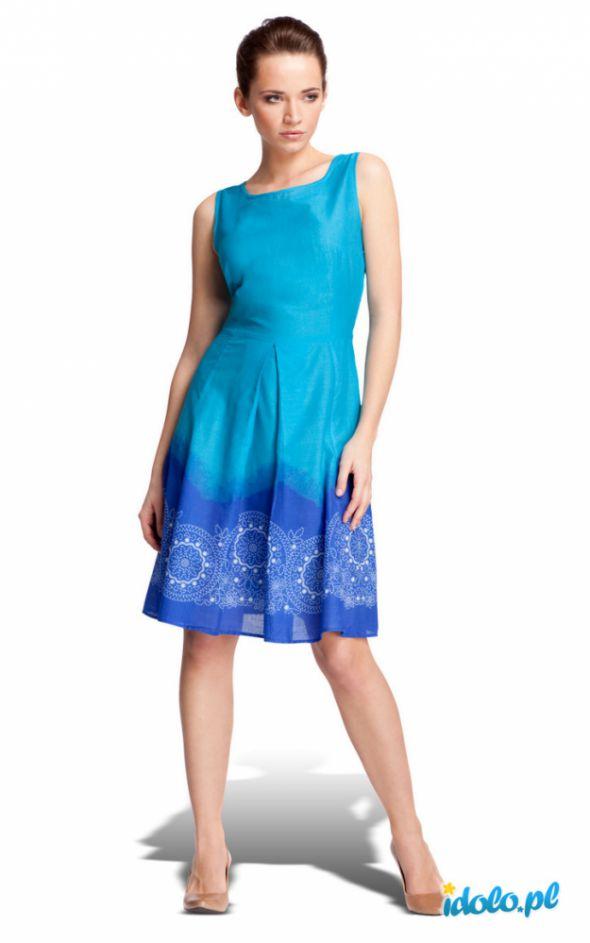 Ubrania niebieska sukienka Quiosque