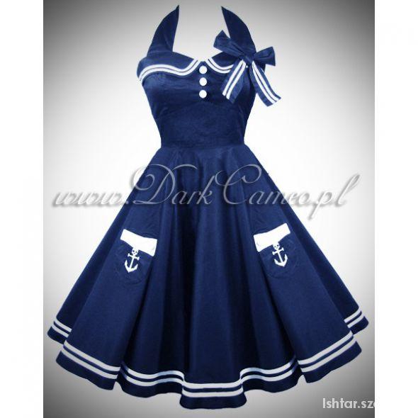 Poszukuję Sukienka Pin Up Marynarska Hell Bunny...