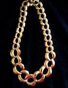 Złoty naszyjnik łańcuch pancerka kolia