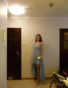 piękna sukienka asymetryczna ślub Sykut