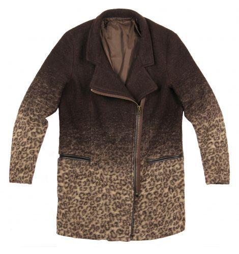 Ubrania płaszcz panterka BERSHKA ombre