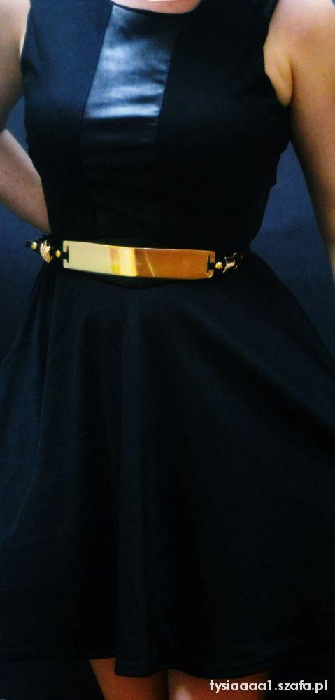 złoty pasek metalowy do sukienek NOWY