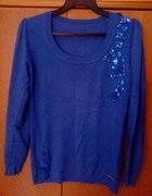 Kobaltowy sweter