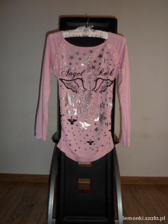 Bluzki Różowa z nadrukiem S M