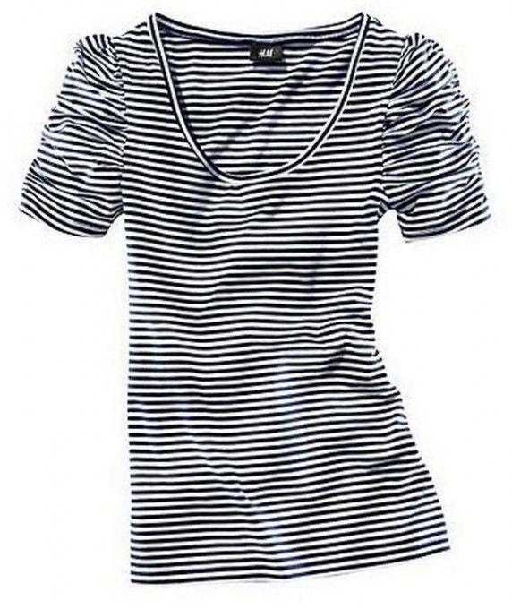 Bluzki bluzka paski h&m