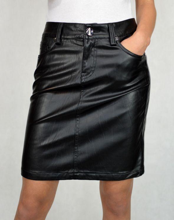 Spódnice Ołówkowa Skórzana spódnica M