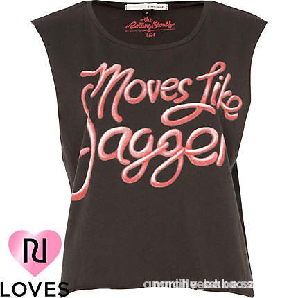 RIVER ISLAND koszulka MOVES LIKE JAGGER oversize...