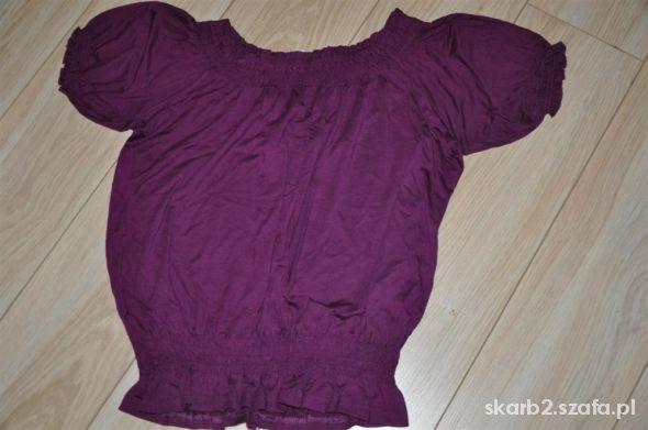 Bluzki wiśniowa bawełniana bluzka 46 Yessica