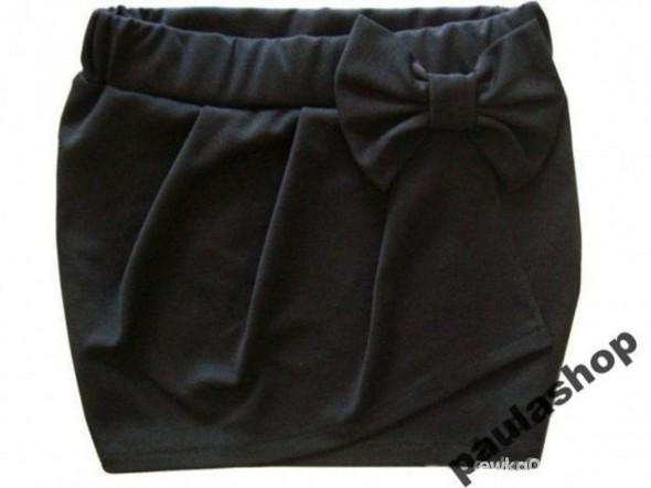 Spódnice czarna spódniczka z kokardą