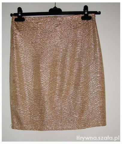 Spódnice Złota spódnica H&M M