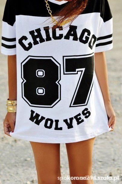 bluzka chicago 87 wolves primark...