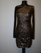 Sukienka cekiny Mohito złota