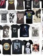 Koszulki zespołów metal rock...