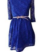 Cudowna szafirowa sukienka