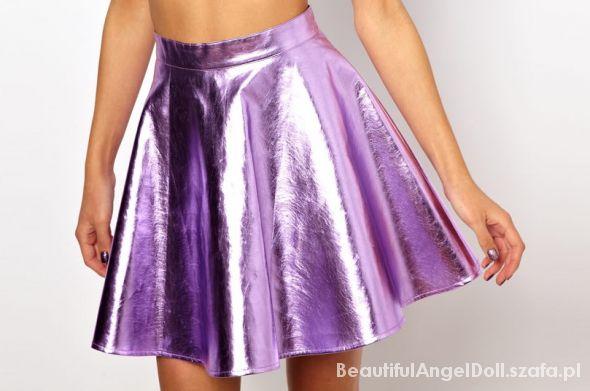 metallic lilac skirt