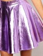metallic lilac skirt...