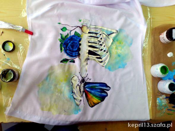 Bluzki Własnoręcznie malowana bluzka