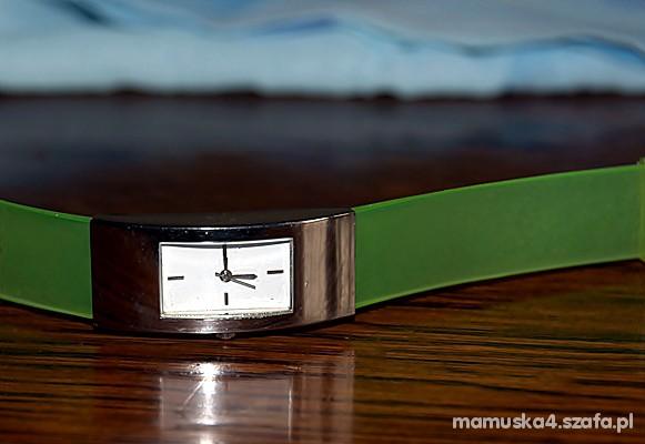 Zegarki srebrno zielony garnier