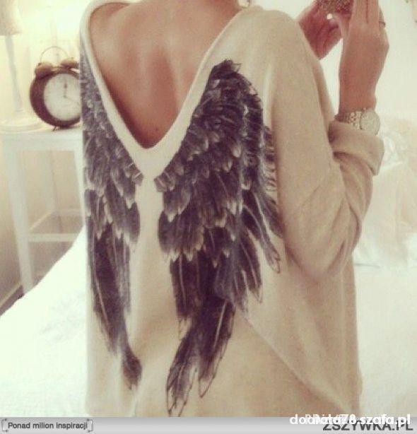 Sweter KappAhl ze skrzydłami rozm XS lub S M...