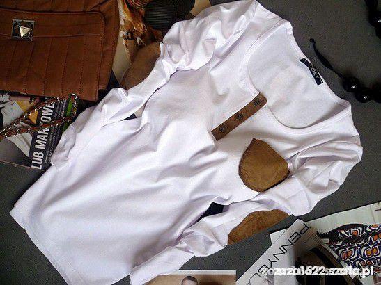 Bluzki Nowa CHABROWA bluzeczka łaty kieszonka