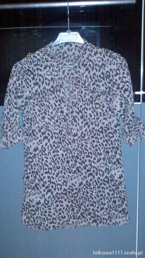 Bluzki bluzka koszula panterka złote guziki pagony