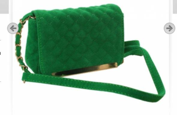 Zielona torebka Mohito chanelka