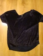 Granatowa bluzka z aksamitu