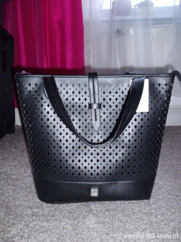 a115f1803e51a czarna torba shopper V couture by kooba Tk MAXX w Torebki na co ...