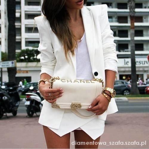Eleganckie złoto i biel