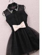 Sukienka szyfonowa z kokardką